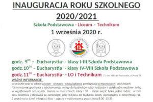 INAUGURACJA ROKU SZKOLNEGO 2020/2021